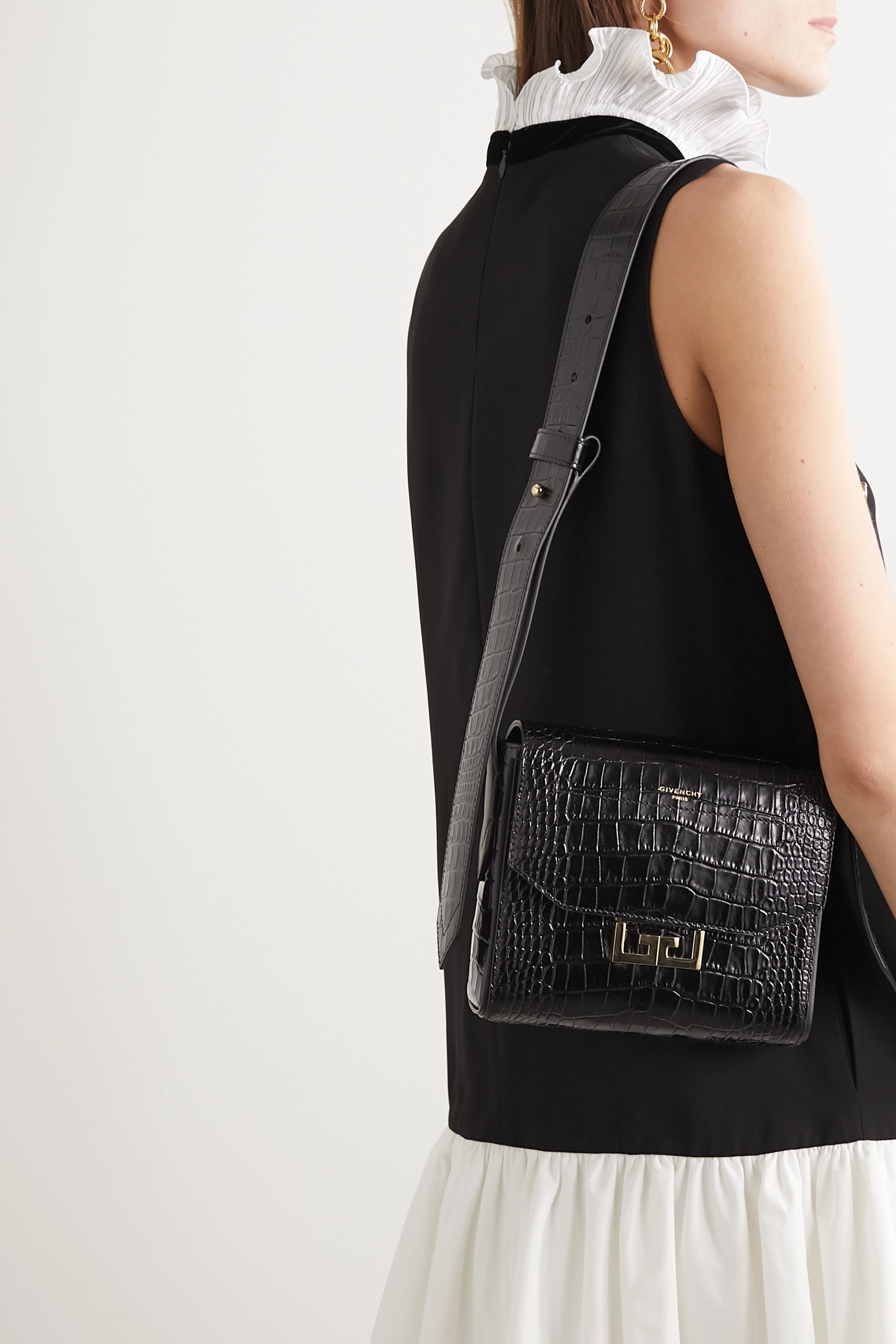 Givenchy Eden small croc-effect leather shoulder bag