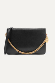 Cross 3 textured-leather and suede shoulder bag