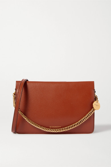 Givenchy Cross 3 Textured-leather And Suede Shoulder Bag In Tan