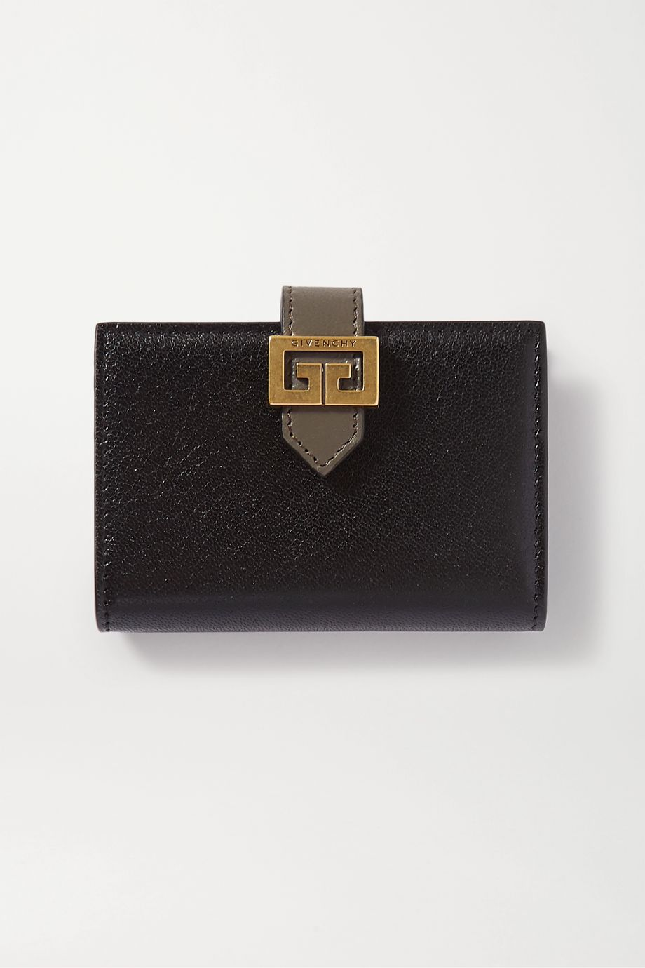 Givenchy GV3 smooth and textured-leather wallet