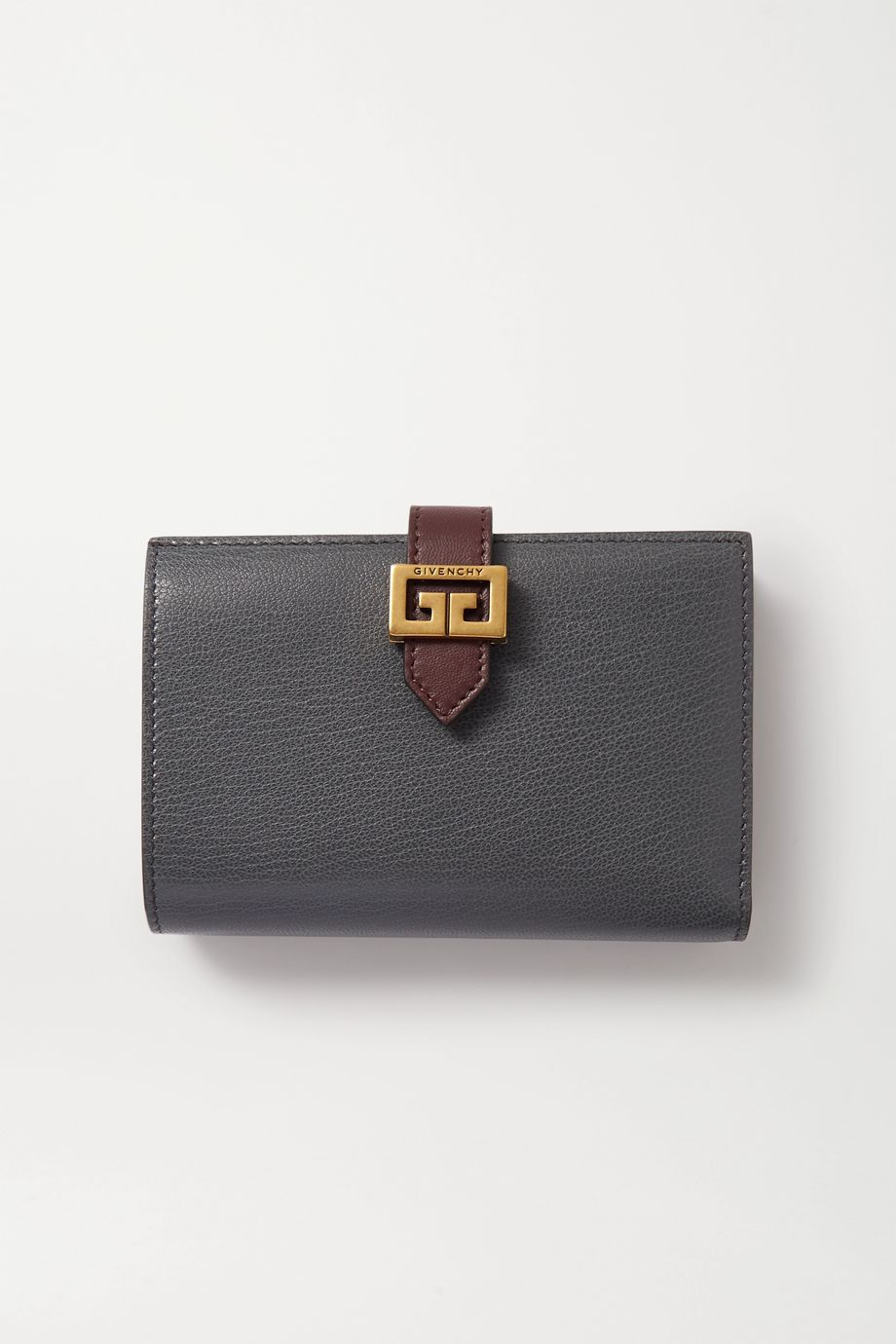 Givenchy GV3 medium smooth and textured-leather wallet