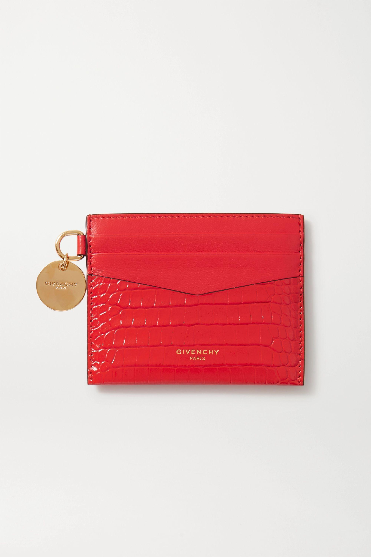 Givenchy GV3 croc-effect leather cardholder