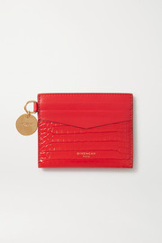 GV3 croc-effect leather cardholder