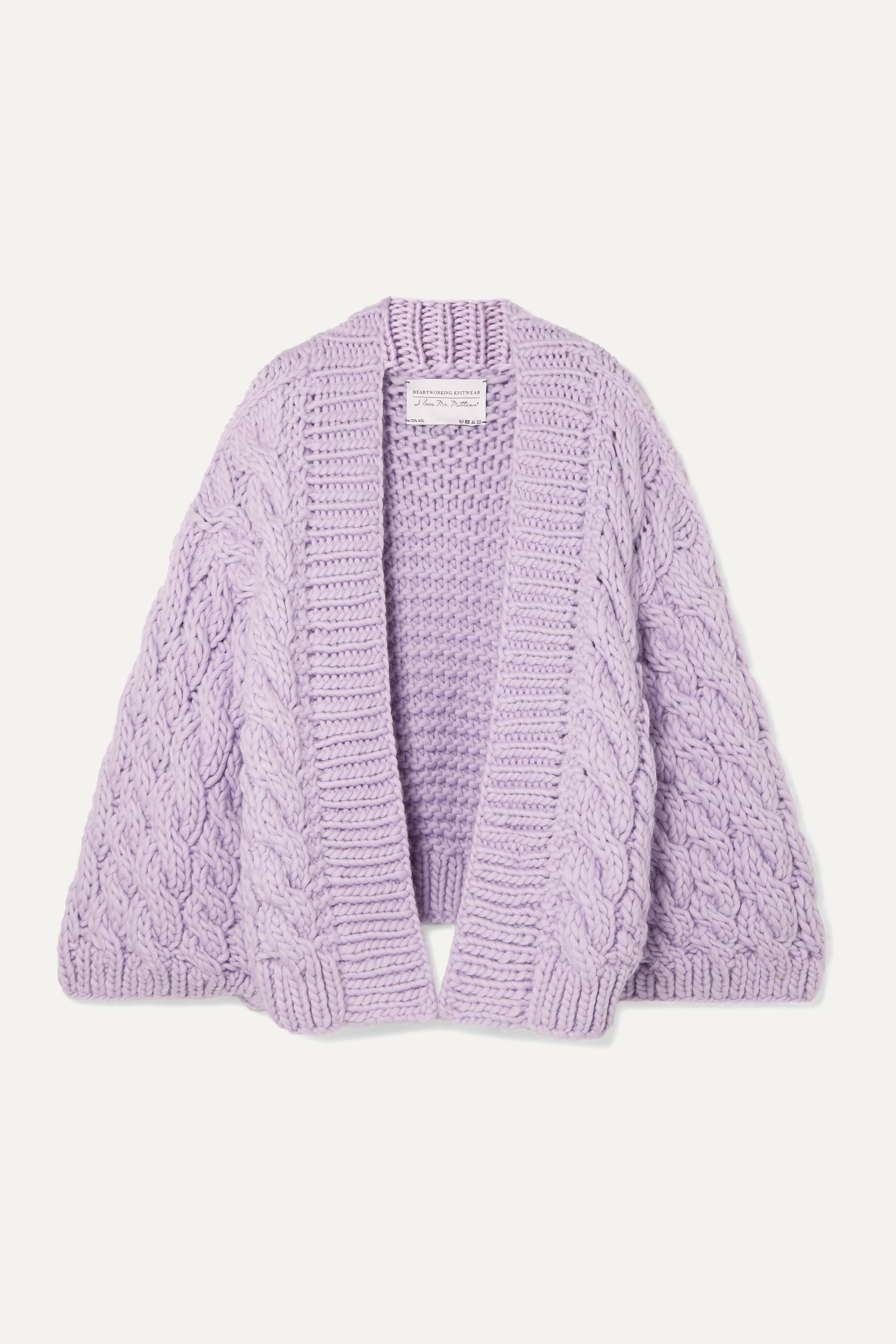 Cable knit wool cardigan