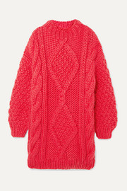 I Love Mr Mittens Diamond oversized cable-knit wool sweater
