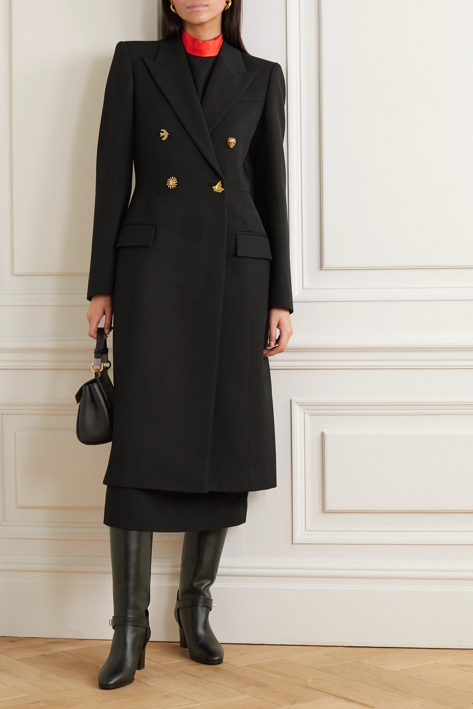 Givenchy Double-breasted wool-twill coat