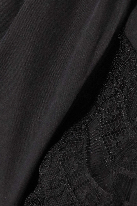 Givenchy Minikleid aus Baumwollpopeline mit Spitzenbesatz