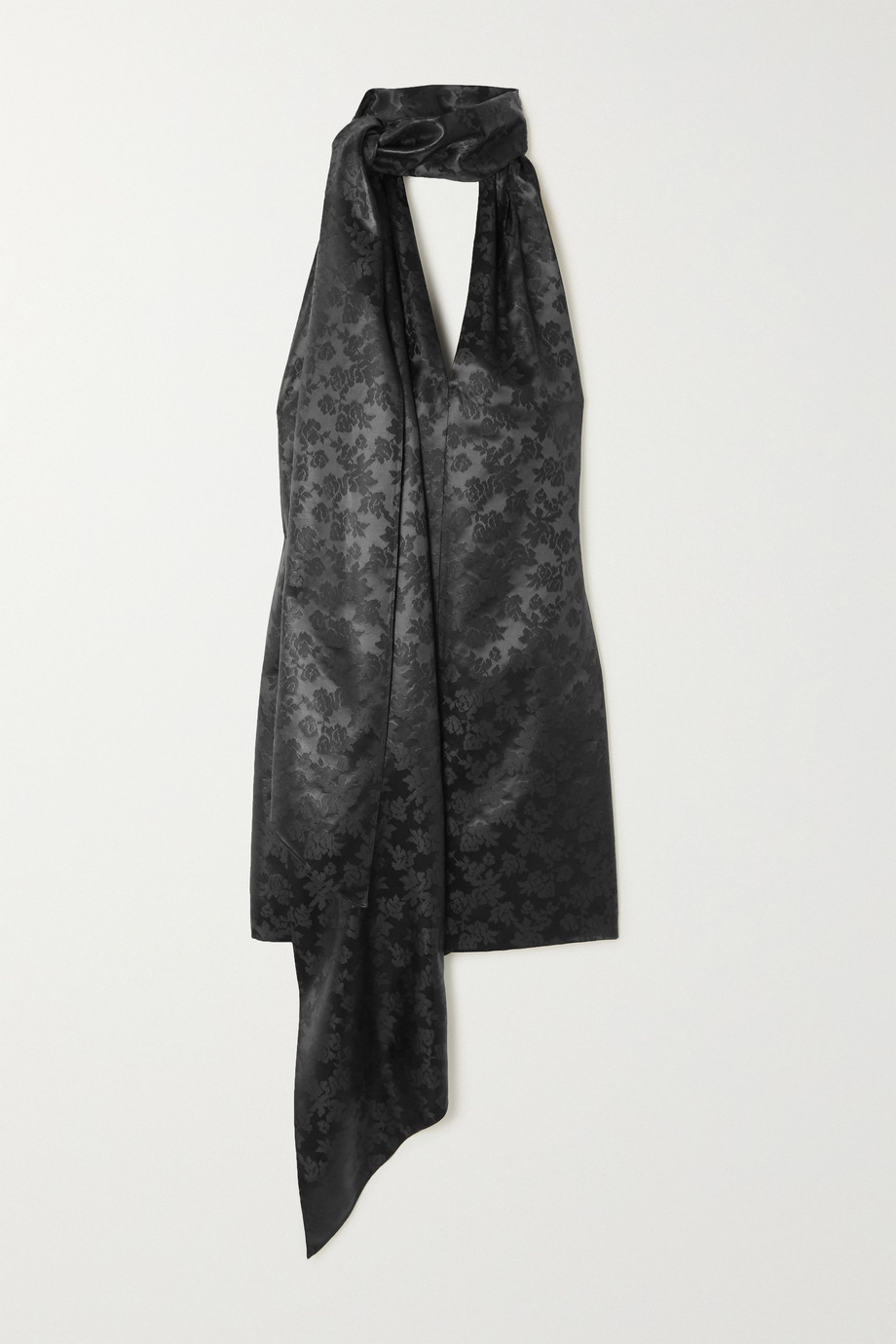 Givenchy Satin-jacquard halterneck mini dress
