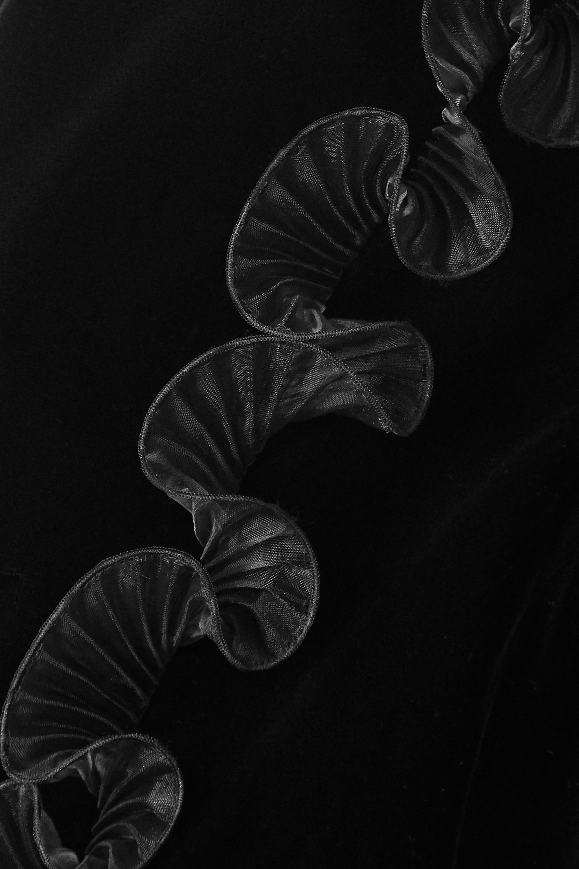 Givenchy Veste raccourcie en velours et en organza plissé à volants