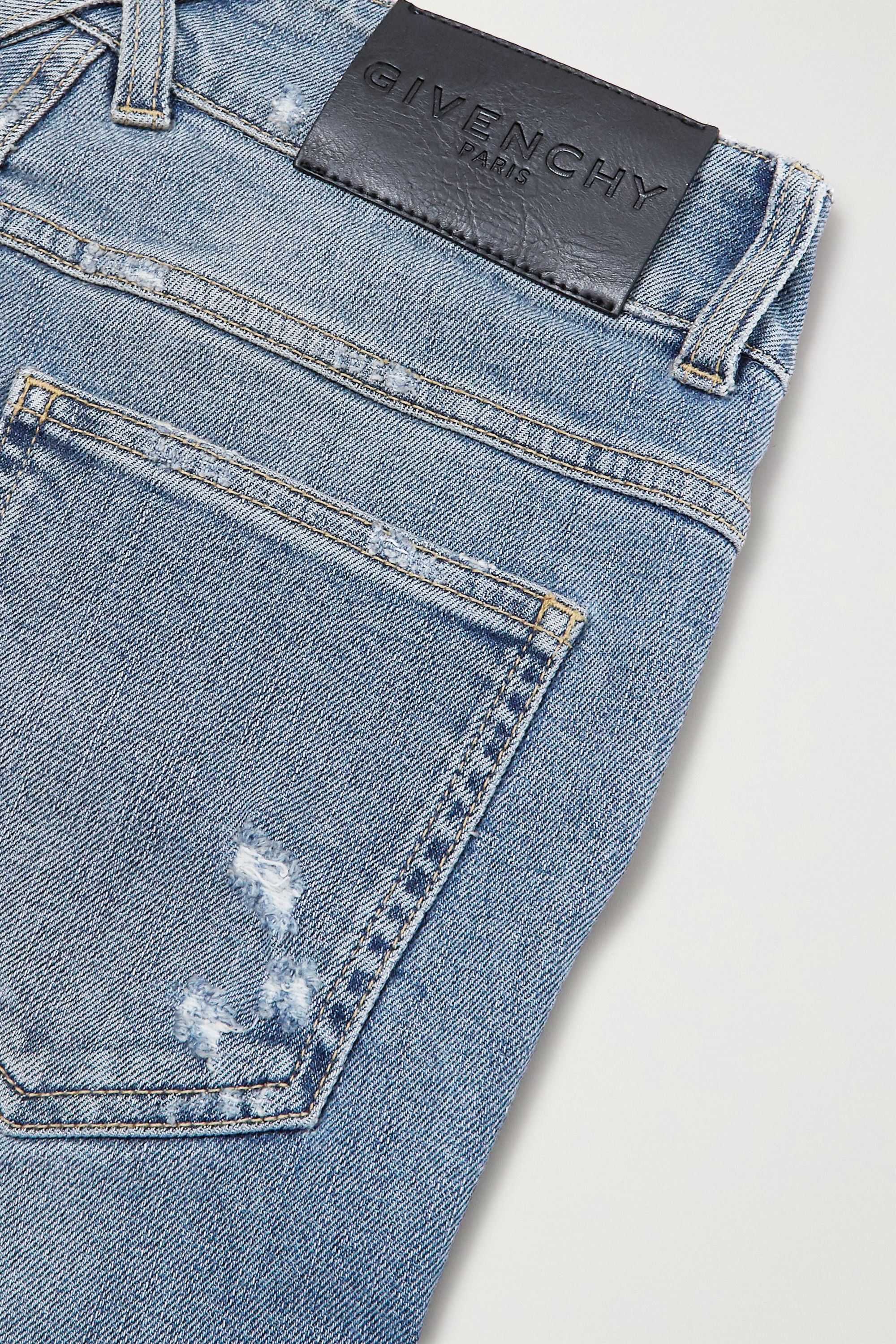 Givenchy Distressed mid-rise skinny jeans