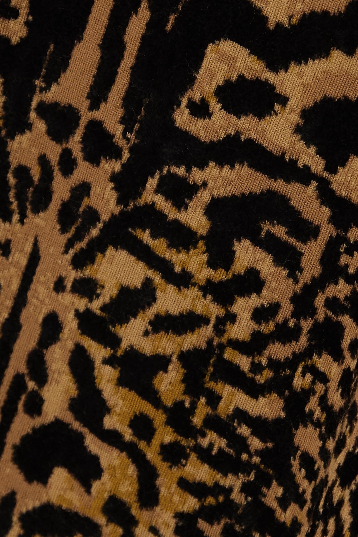 Givenchy Leopard-jacquard wool-blend turtleneck sweater