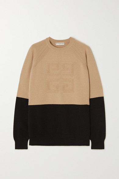 Two Tone Cashmere Sweater by Givenchy