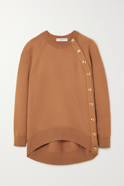 Givenchy Oversized button-embellished wool sweater