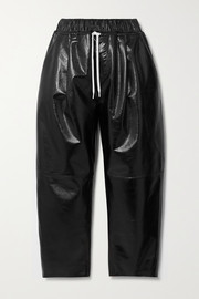 Givenchy Textured patent-leather wide-leg pants