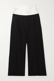 Givenchy Cropped satin-trimmed grain de poudre wool pants