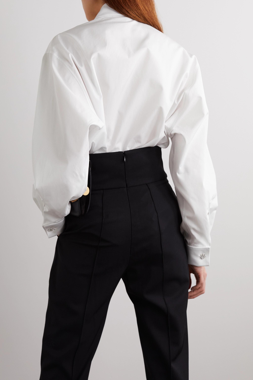 Givenchy Crystal-embellished cotton-poplin shirt