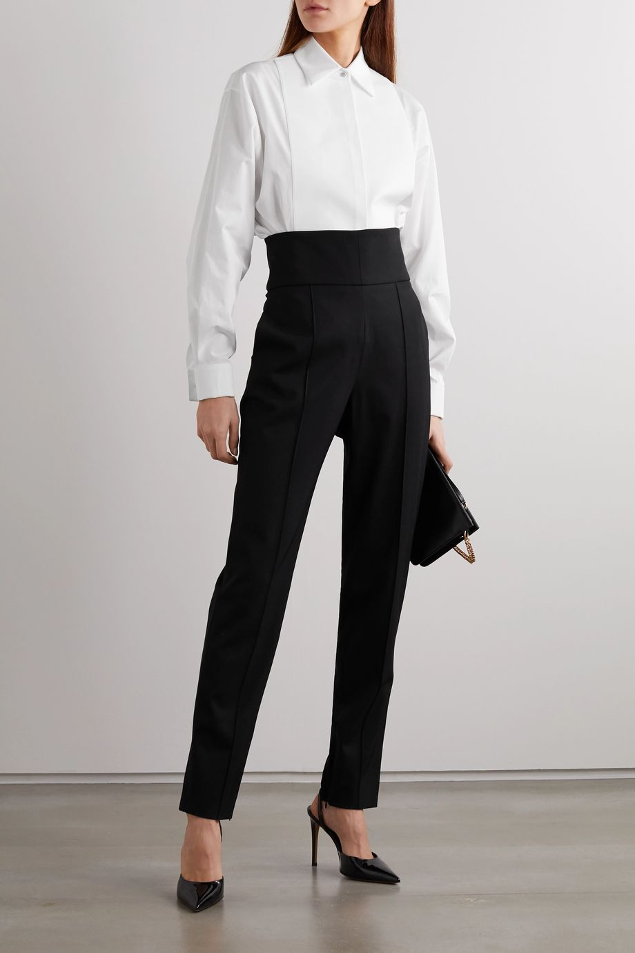 Givenchy Crystal-embellished cotton-poplin shirt