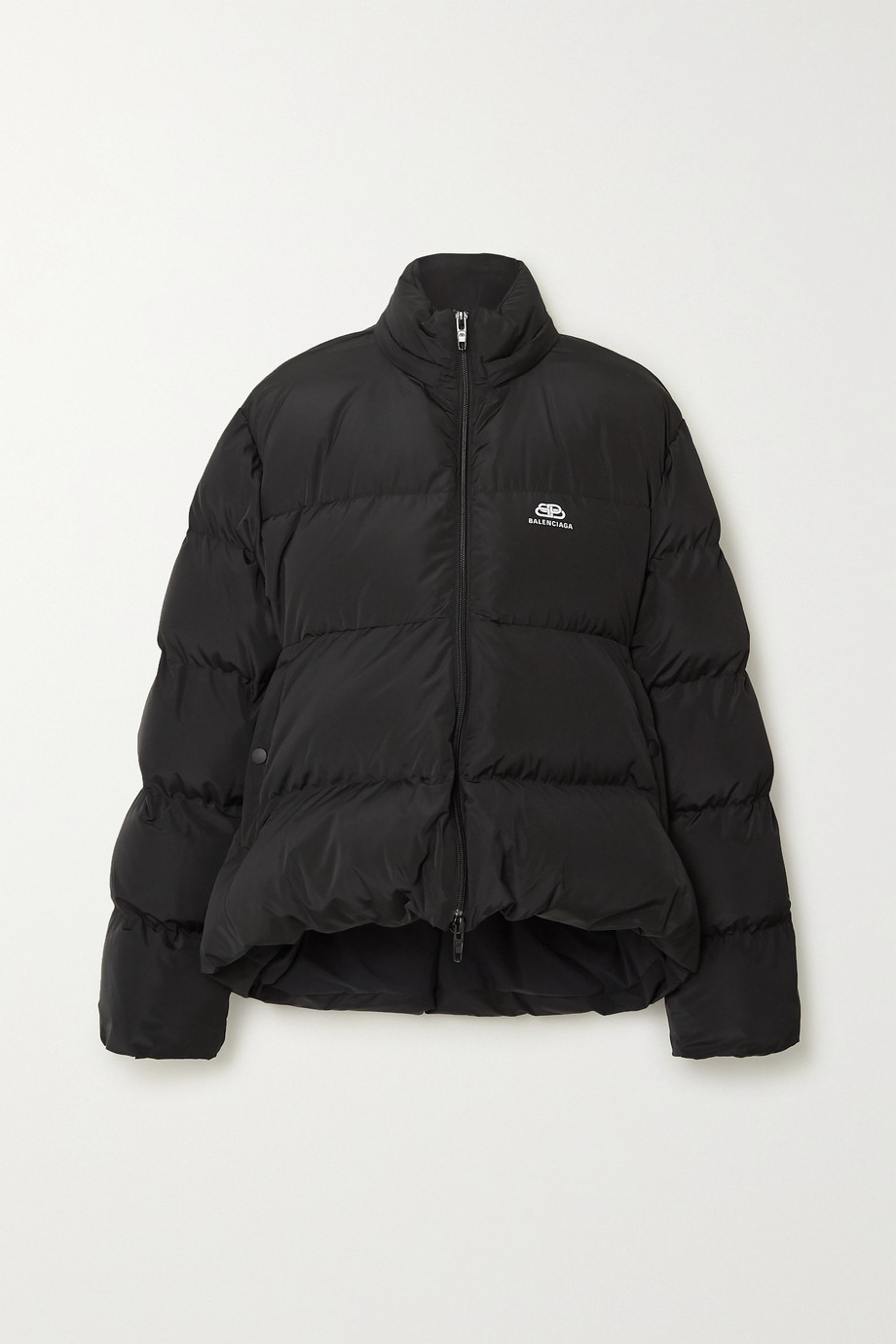 Balenciaga C-Shape oversized hooded quilted shell jacket