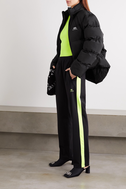 Balenciaga Doudoune oversize à capuche en tissu technique C-Shape