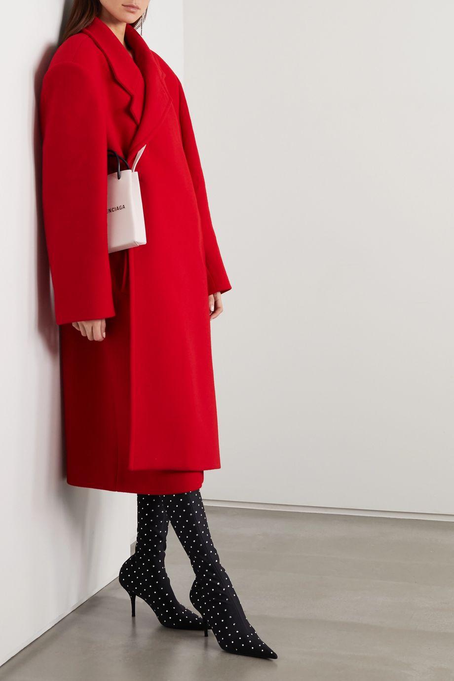 Balenciaga Oversized asymmetric virgin wool-blend coat