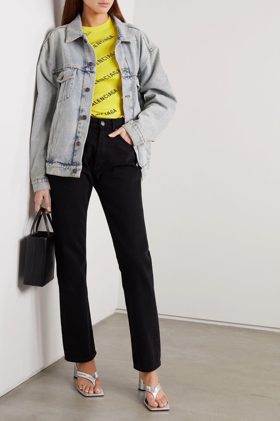 Balenciaga Veste oversize en jean à broderies