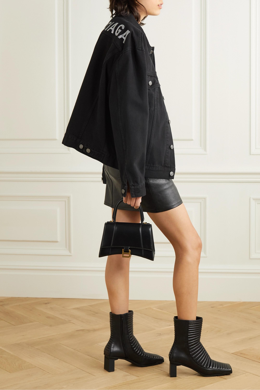 Balenciaga Oversized-Jeansjacke mit Kristallen