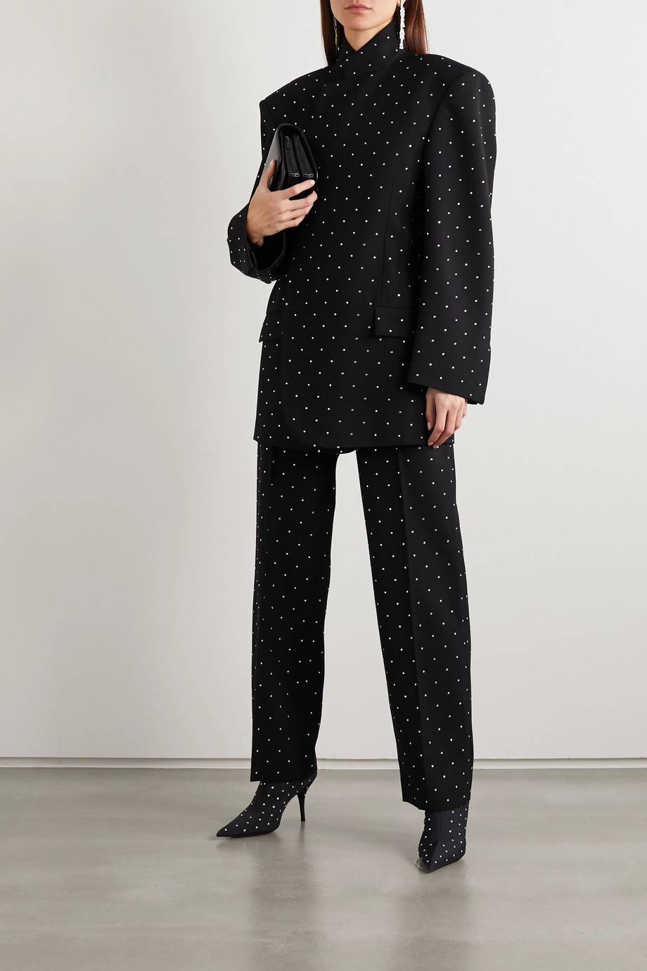 Balenciaga Oversized sequin-embellished wool-twill blazer