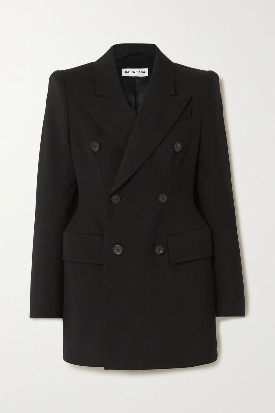 Balenciaga Hourglass double-breasted wool-twill blazer