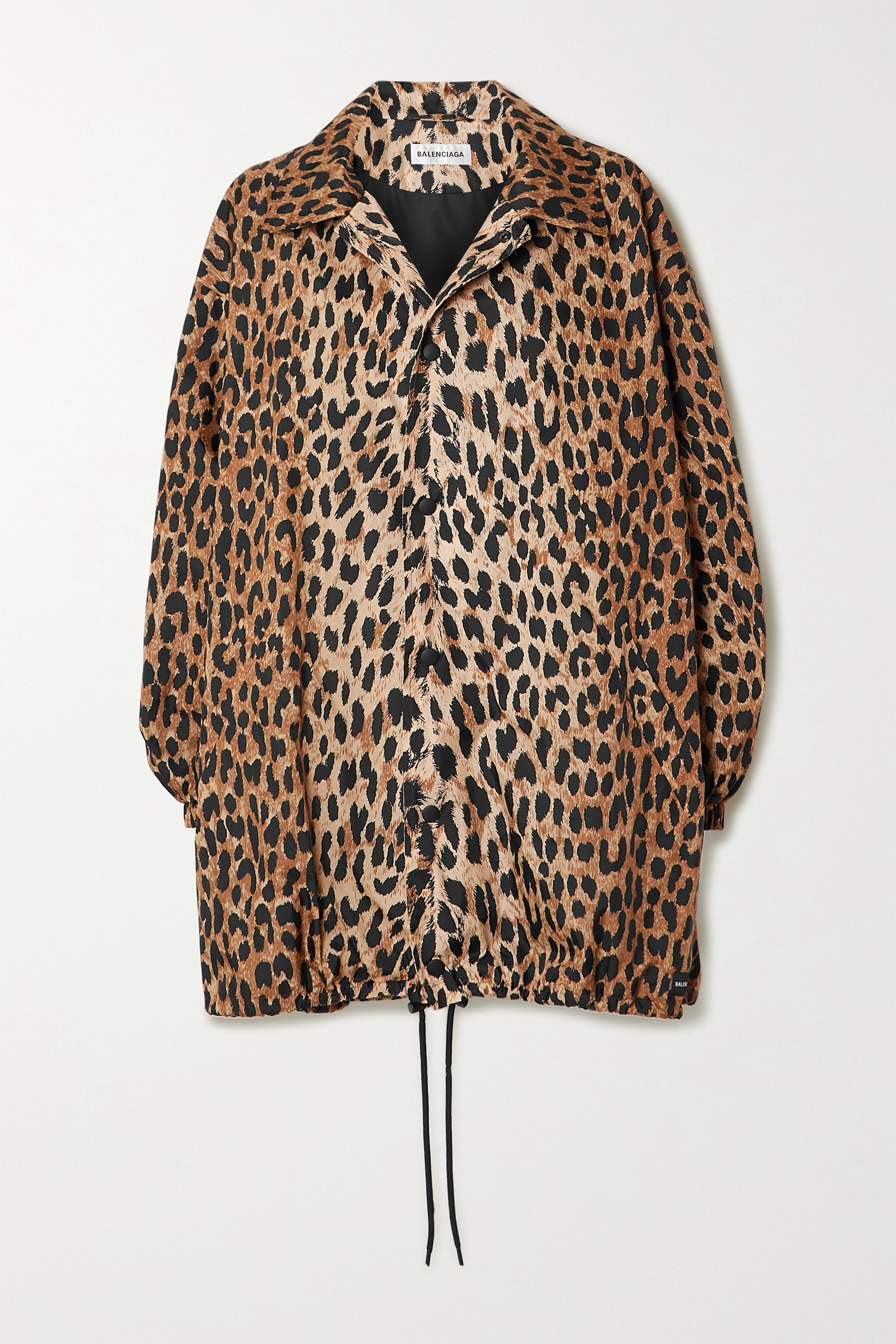 Oversized leopard-print shell raincoat by Balenciaga, available on net-a-porter.com for $995 Hailey Baldwin Outerwear Exact Product