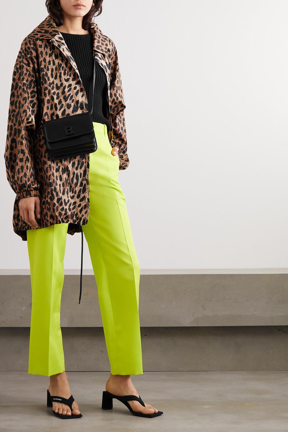 Balenciaga Oversized leopard-print shell raincoat