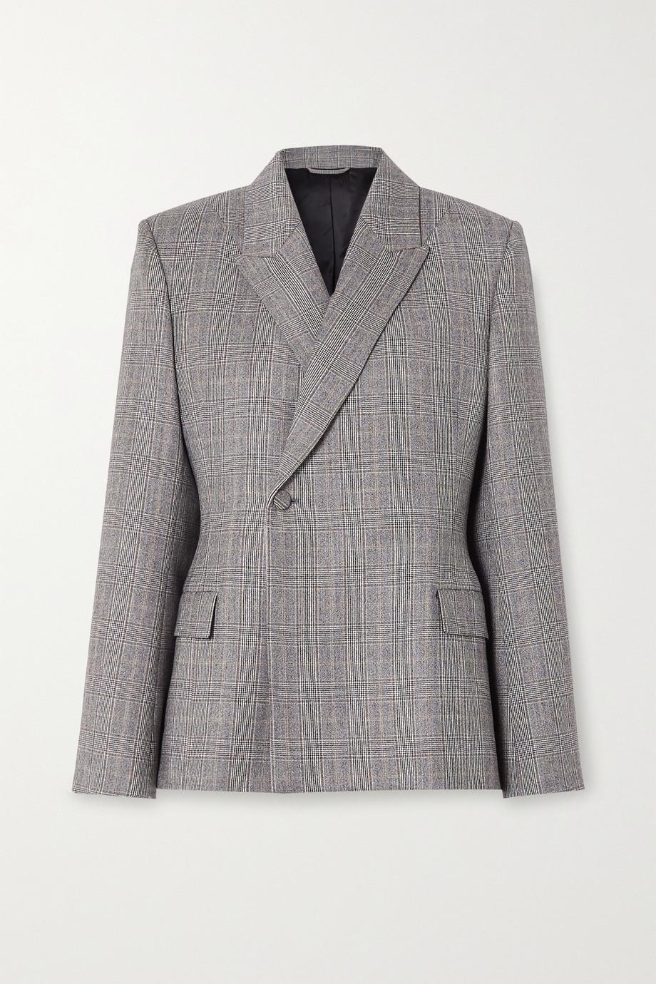 Balenciaga Prince of Wales checked wool blazer