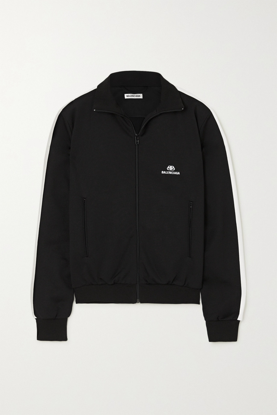 Balenciaga Striped embroidered tech-jersey track jacket