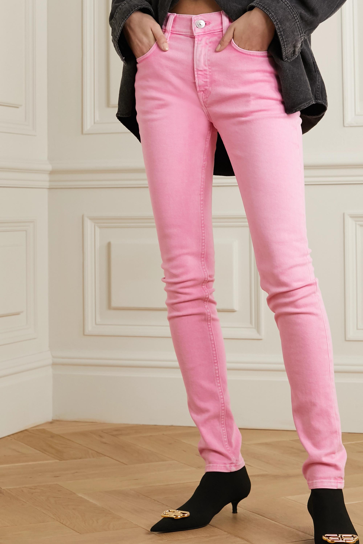 Balenciaga Acid-wash mid-rise skinny jeans