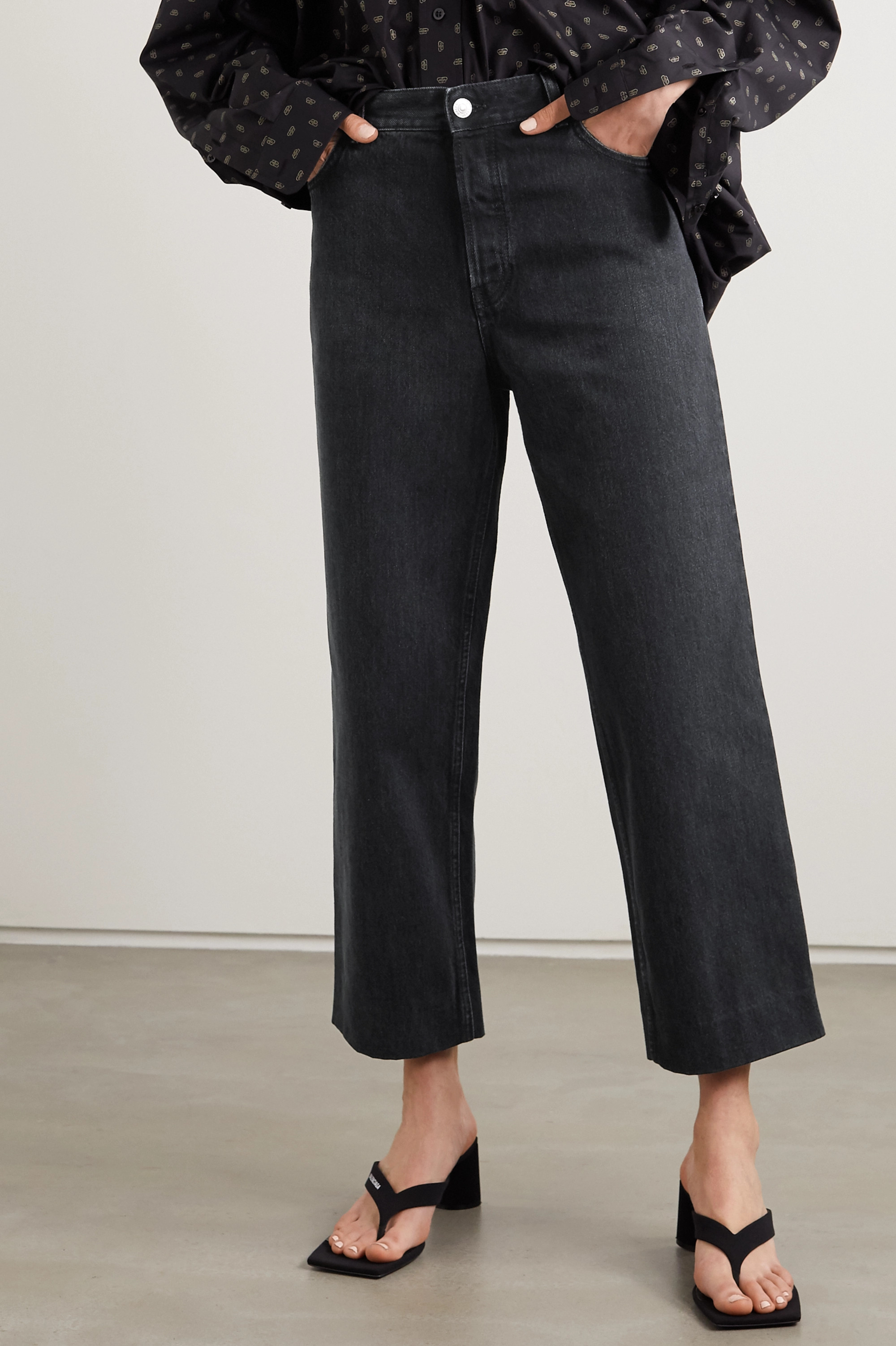 Balenciaga Tube cropped low-rise straight-leg jeans