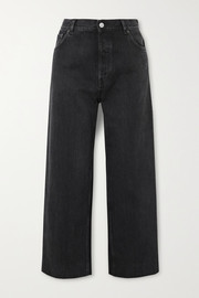 Tube cropped low-rise straight-leg jeans