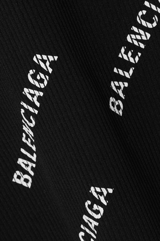 Balenciaga Printed ribbed-knit sweater