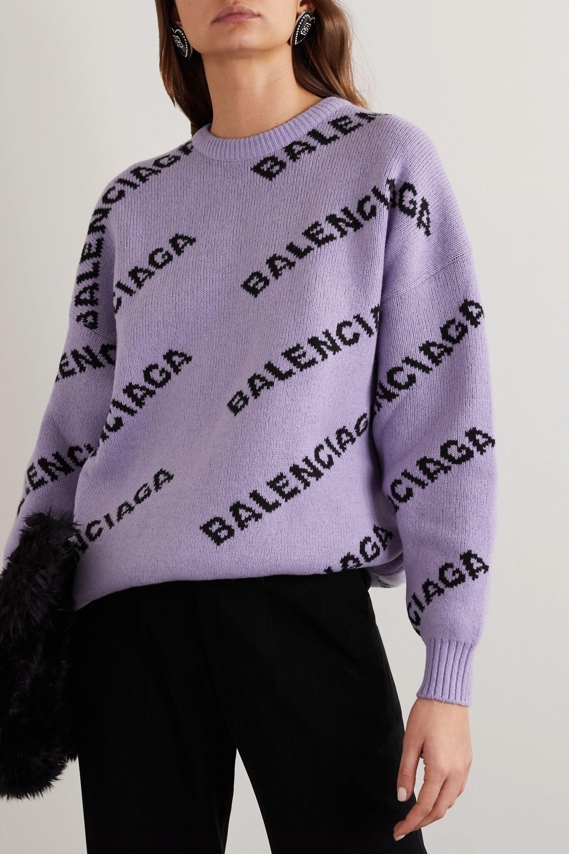 Balenciaga Intarsia wool-blend sweater
