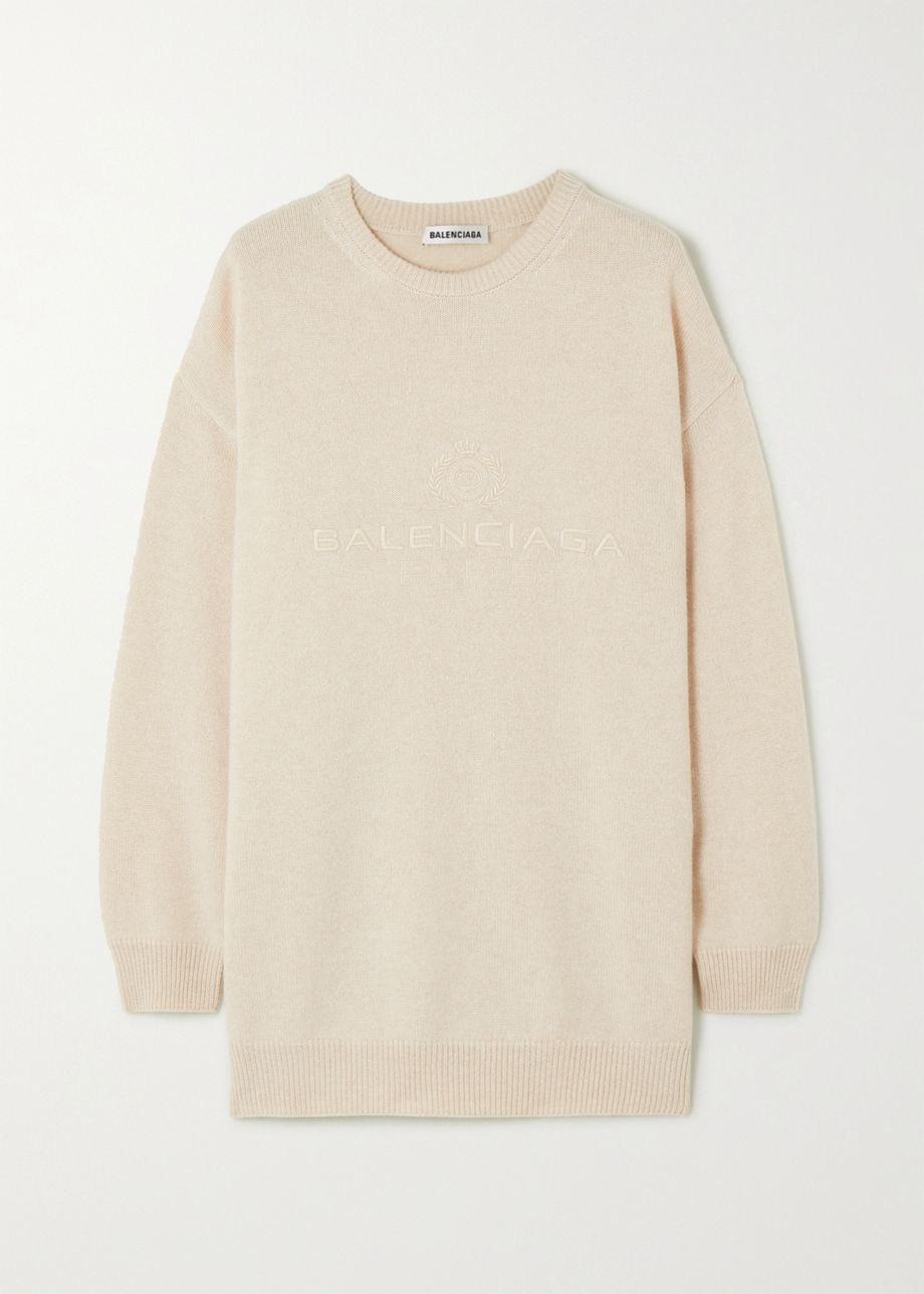 Balenciaga Oversized embroidered cashmere sweater
