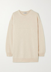 Oversized embroidered cashmere sweater