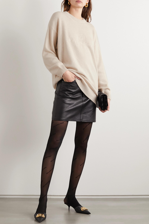 Balenciaga Oversized embroidered cashmere sweater