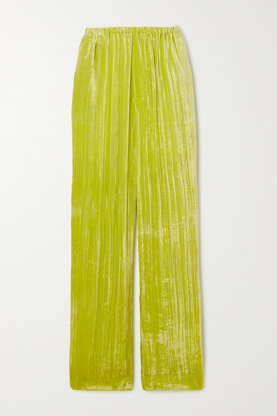 Balenciaga Crushed-velvet wide-leg pants