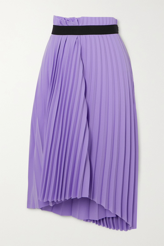 Balenciaga Jupe midi asymétrique plissée en crêpe