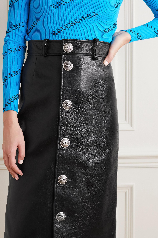 Balenciaga Leather skirt