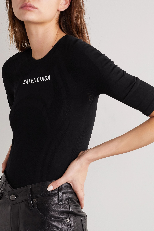 Balenciaga Bedrucktes Oberteil aus Stretch-Jersey