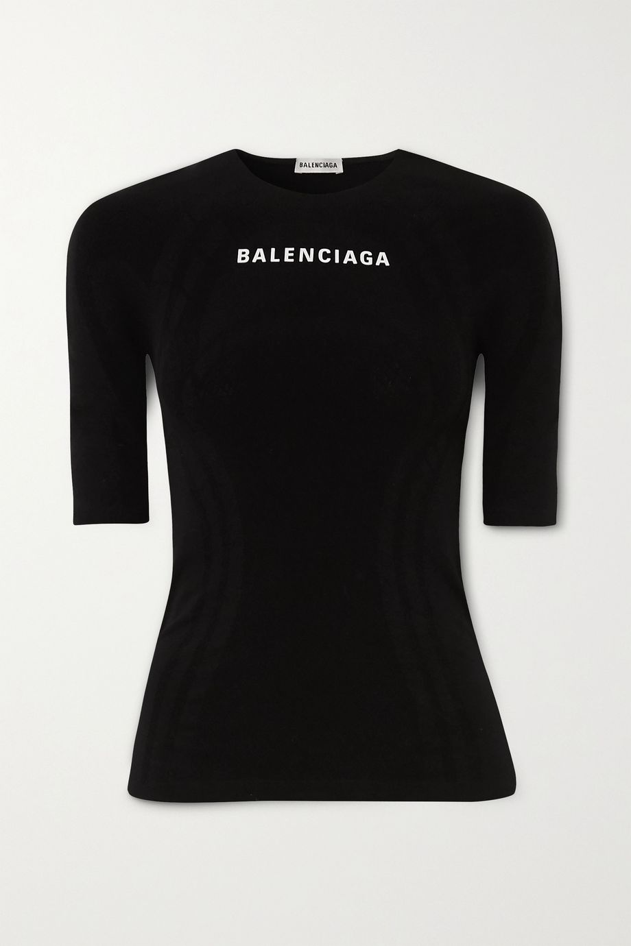 Balenciaga Printed stretch-jersey top