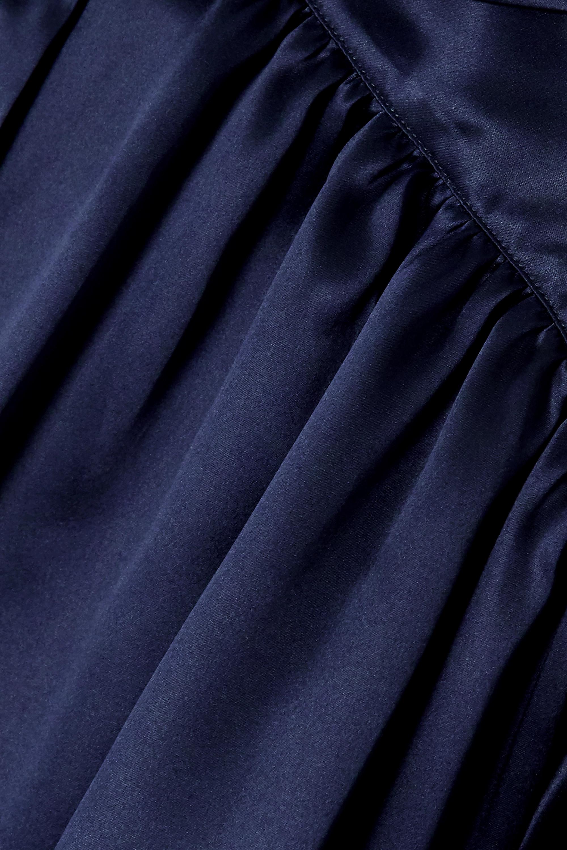 Balenciaga Blouse en satin de soie à superpositions et à col noué
