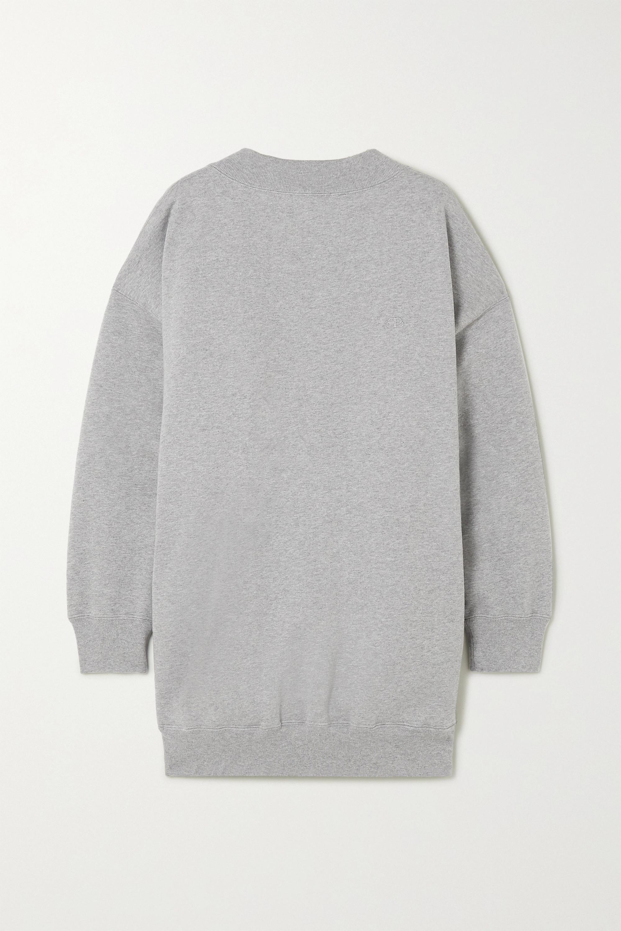 Balenciaga Cristobal 大廓形纯棉平纹布卫衣