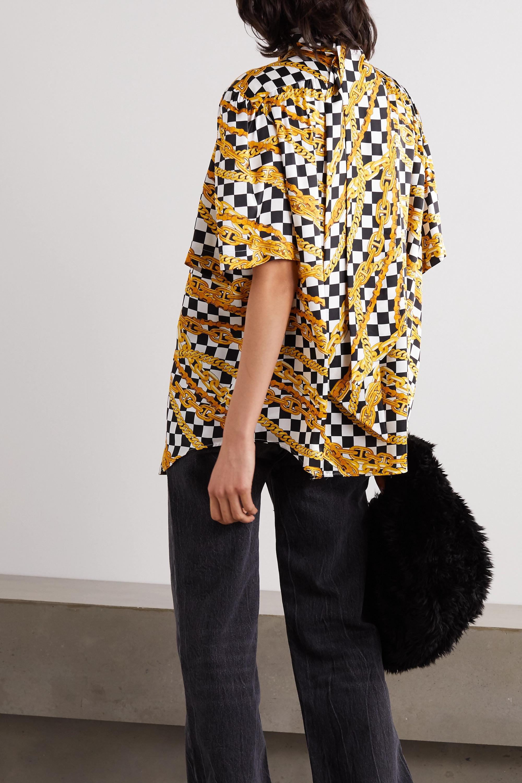 Balenciaga Printed silk-satin blouse
