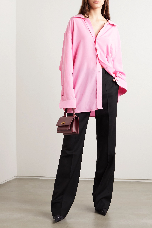 Pink Oversized satin shirt | Balenciaga