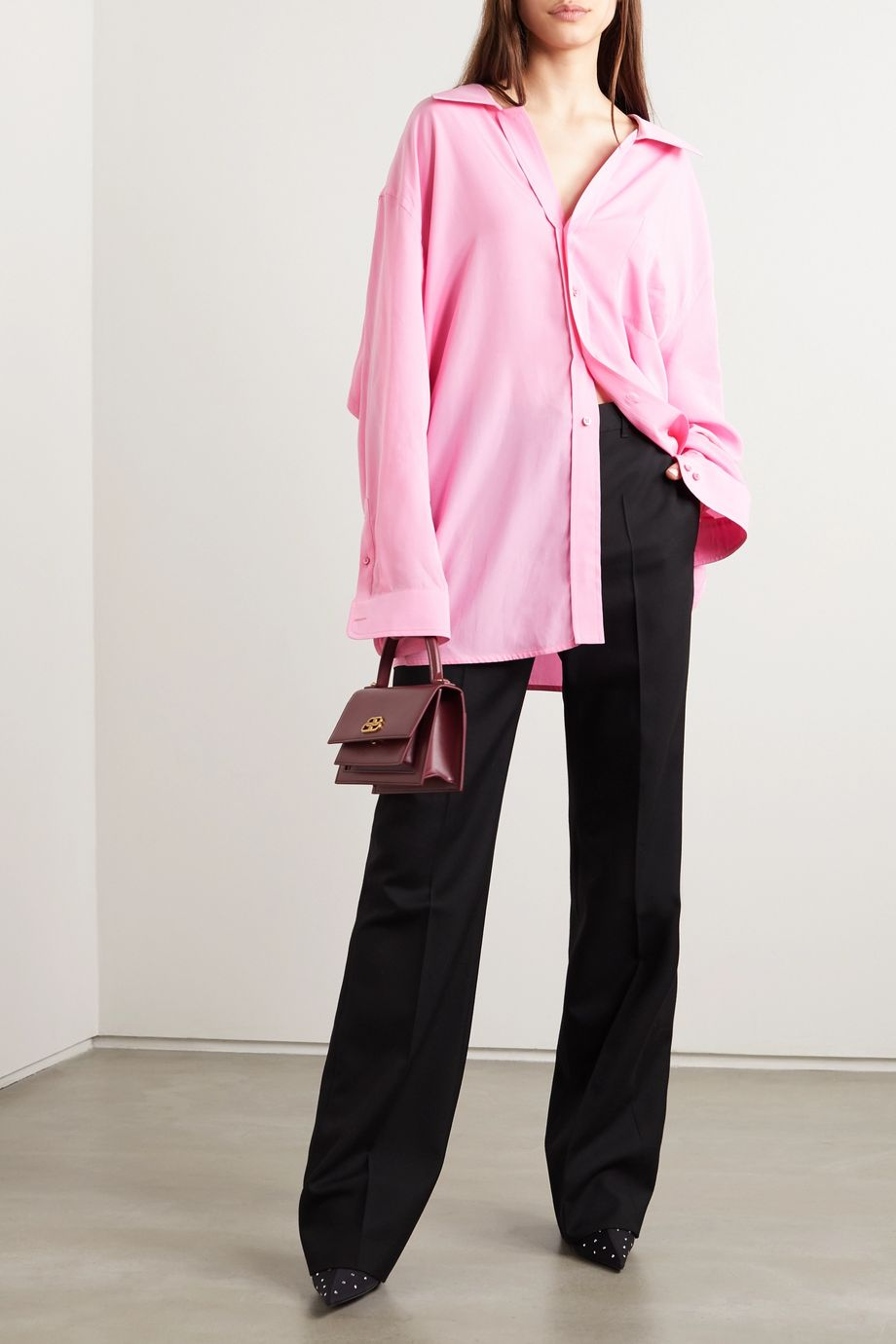 Balenciaga Oversized satin shirt